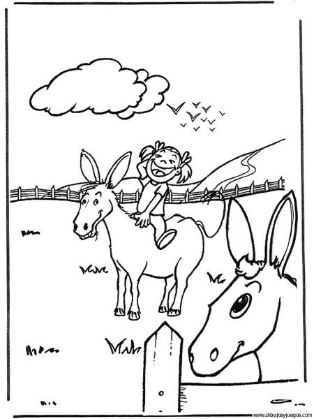 dibujo-de-burro-28   Dibujos y juegos, para pintar y colorear