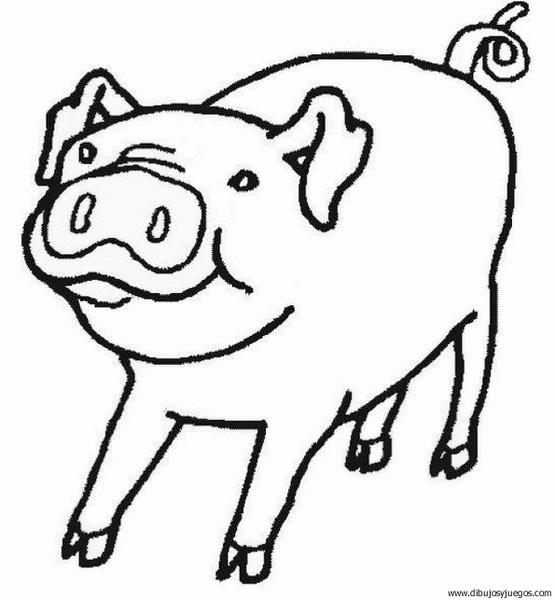 dibujo-de-cerdo-27 | Dibujos y juegos, para pintar y colorear