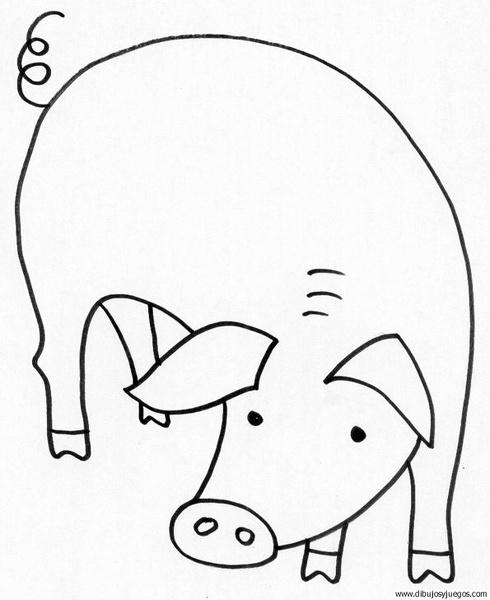 dibujo-de-cerdo-29 | Dibujos y juegos, para pintar y colorear