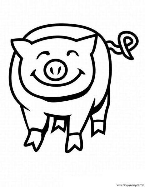 dibujo-de-cerdo-39 | Dibujos y juegos, para pintar y colorear