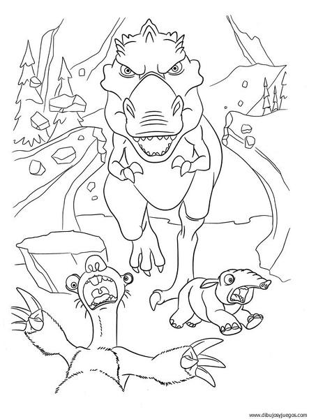 dibujo-de-dinosaurio-087 | Dibujos y juegos, para pintar y colorear