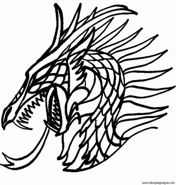 dibujo-de-dragon-002 | Dibujos y juegos, para pintar y colorear