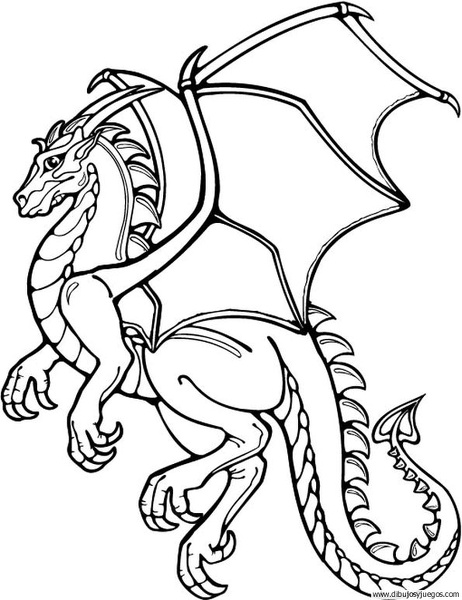 dibujodedragon043  Dibujos y juegos para pintar y colorear