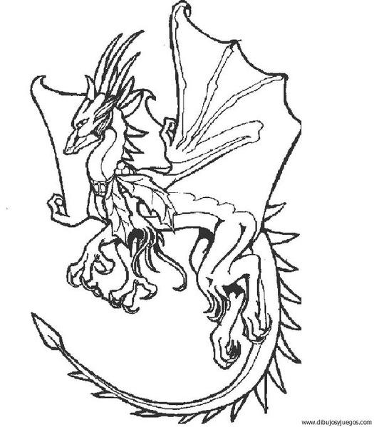 dibujo-de-dragon-052 | Dibujos y juegos, para pintar y colorear