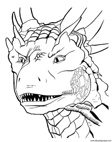 dibujo-de-dragon-055 | Dibujos y juegos, para pintar y colorear