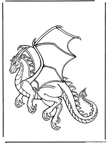 dibujo-de-dragon-069 | Dibujos y juegos, para pintar y colorear
