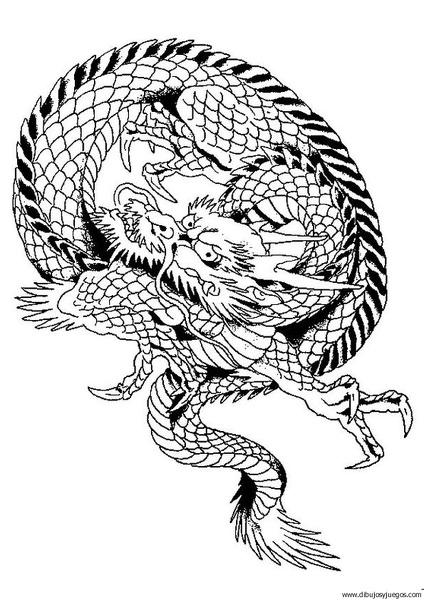 dibujo-de-dragon-075 | Dibujos y juegos, para pintar y colorear
