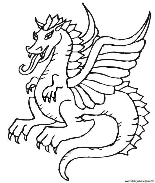 dibujo-de-dragon-099  Dibujos y juegos, para pintar y ...