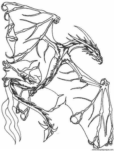 dibujo-de-dragon-139 | Dibujos y juegos, para pintar y colorear