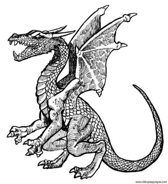 dibujo-de-dragon-153  Dibujos y juegos, para pintar y ...
