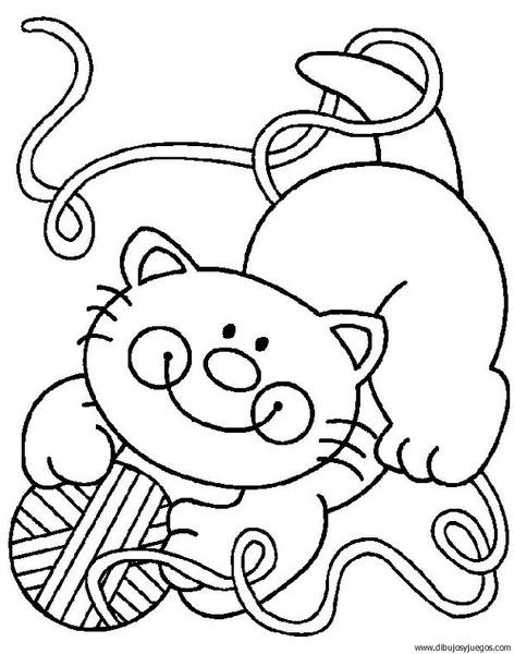 dibujo-de-gato-133 | Dibujos y juegos, para pintar y colorear