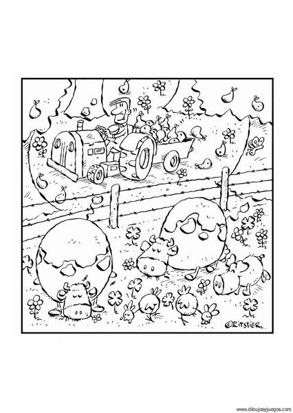 dibujo-de-granja-001   Dibujos y juegos, para pintar y colorear