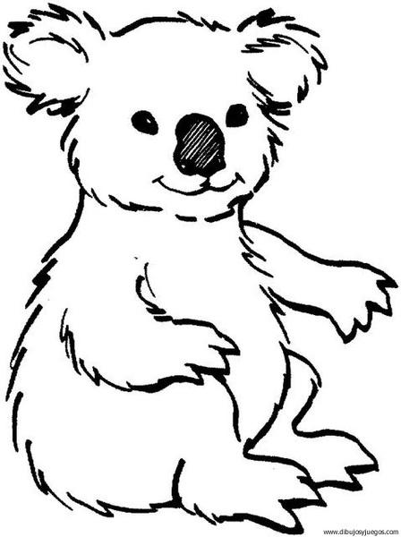 Dibujo De Koala 003 Dibujos Y Juegos Para Pintar Y Colorear