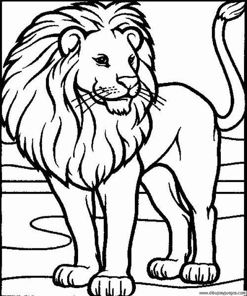 dibujo-de-leon-047   Dibujos y juegos, para pintar y colorear