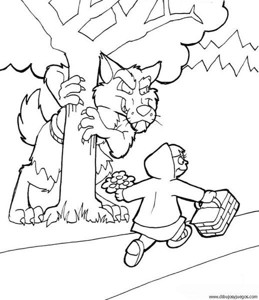 dibujo-de-lobo-045 | Dibujos y juegos, para pintar y colorear