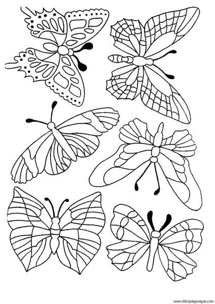 dibujo-de-mariposa-101 | Dibujos y juegos, para pintar y colorear