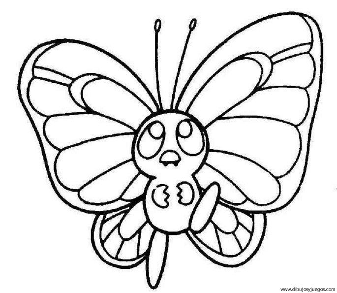 dibujo-de-mariposa-107   Dibujos y juegos, para pintar y colorear