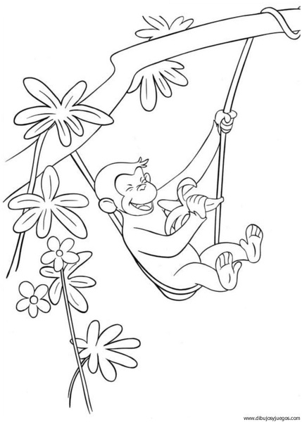 dibujo-de-mono-040 | Dibujos y juegos, para pintar y colorear