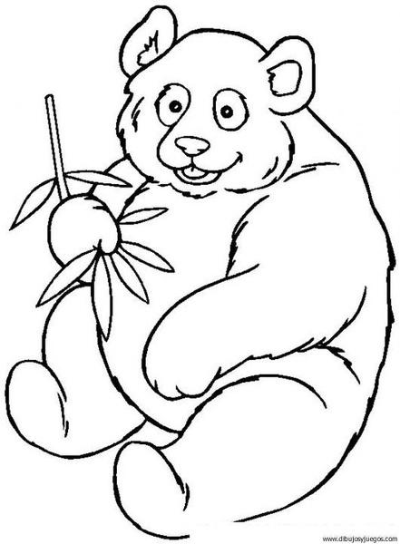 dibujo-de-oso-panda-004 | Dibujos y juegos, para pintar y colorear