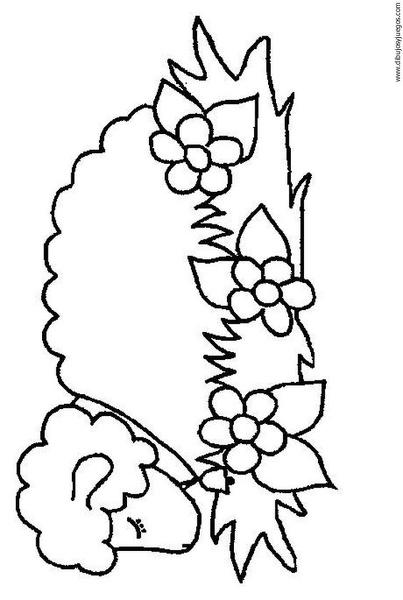 Dibujo de un borreguito para colorear - Imagui