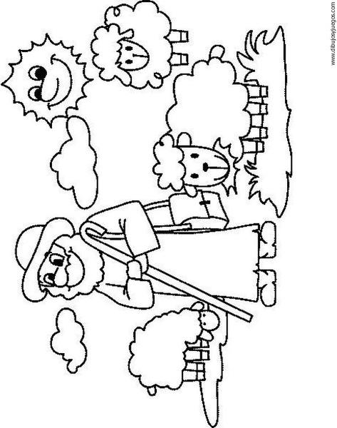 dibujo-de-oveja-011   Dibujos y juegos, para pintar y colorear
