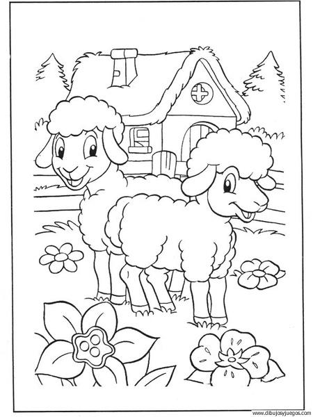 dibujo-de-oveja-041 | Dibujos y juegos, para pintar y colorear