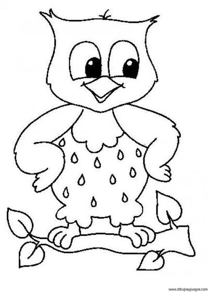 dibujo-de-buho-011 | Dibujos y juegos, para pintar y colorear