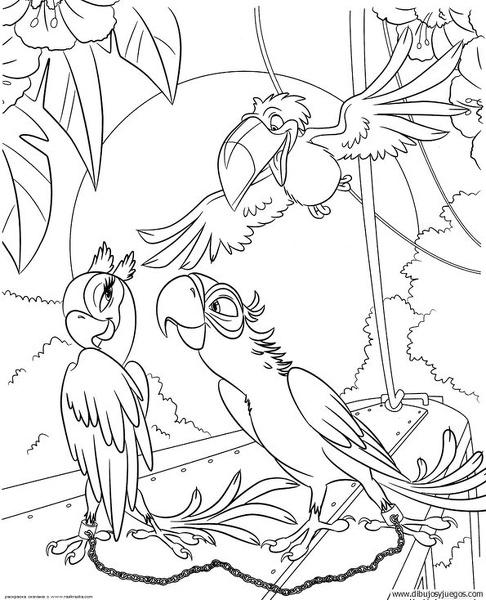 dibujo-de-loro-024 | Dibujos y juegos, para pintar y colorear