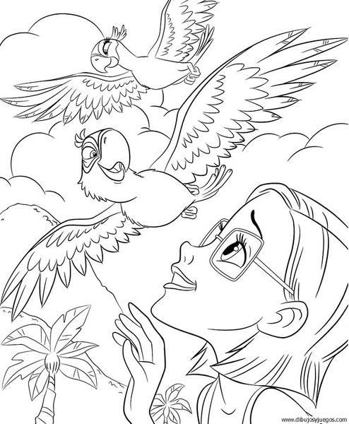 dibujo-de-loro-039 | Dibujos y juegos, para pintar y colorear