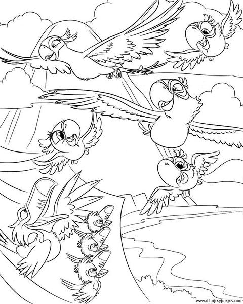 dibujo-de-loro-042 | Dibujos y juegos, para pintar y colorear