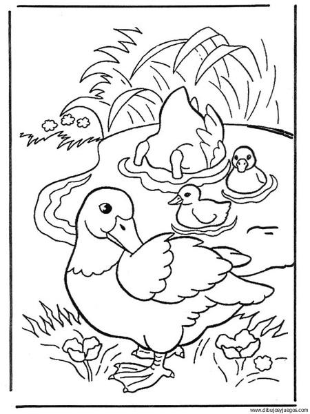 dibujo-de-pato-039 | Dibujos y juegos, para pintar y colorear