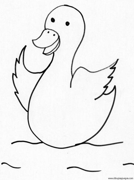 dibujo-de-pato-049 | Dibujos y juegos, para pintar y colorear