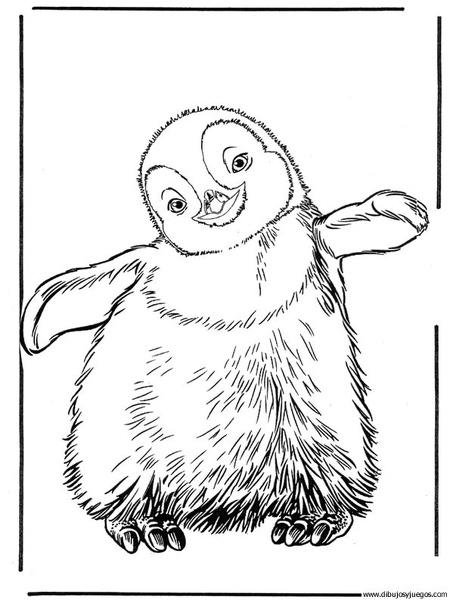 dibujo-de-pinguino-006 | Dibujos y juegos, para pintar y colorear