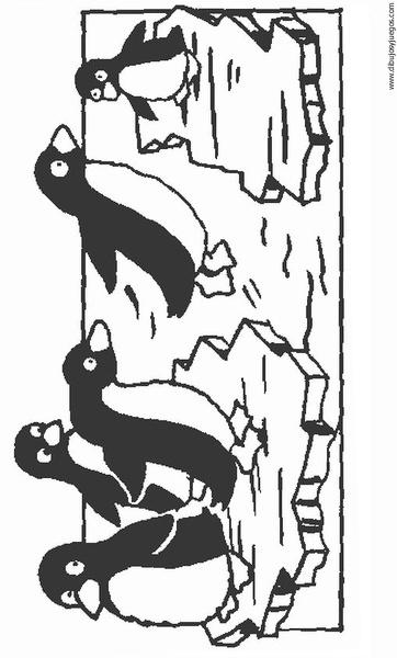 dibujo-de-pinguino-020 | Dibujos y juegos, para pintar y colorear