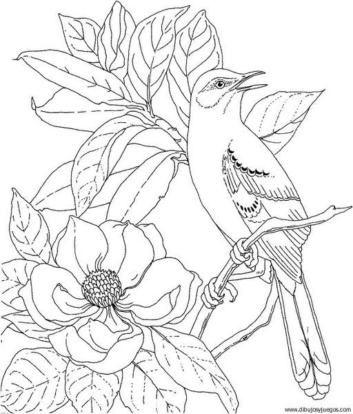 Worksheet. dibujodepajaro141  Dibujos y juegos para pintar y colorear