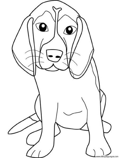 dibujo-de-perro-109   Dibujos y juegos, para pintar y colorear