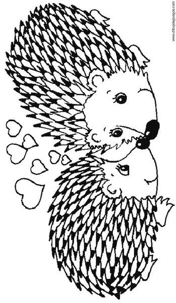 dibujo de puercoespin erizo 001jpg