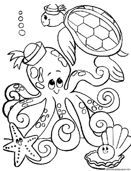 dibujo-de-pulpo-001 | Dibujos y juegos, para pintar y colorear