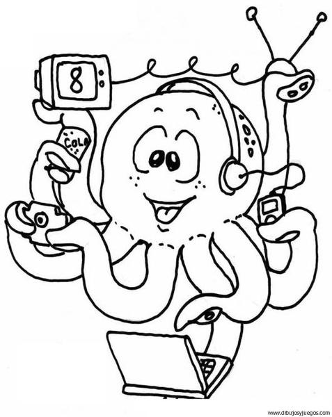 dibujo-de-pulpo-008 | Dibujos y juegos, para pintar y colorear