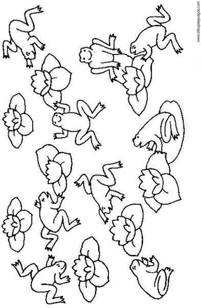 dibujo-de-rana-013 | Dibujos y juegos, para pintar y colorear