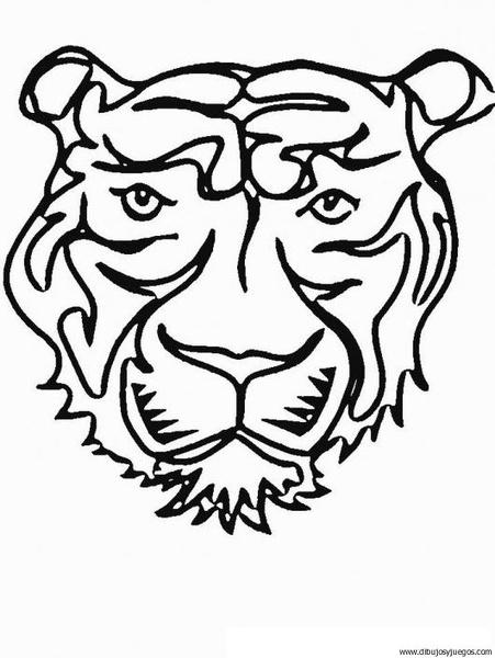 dibujo-de-tigre-017 | Dibujos y juegos, para pintar y colorear