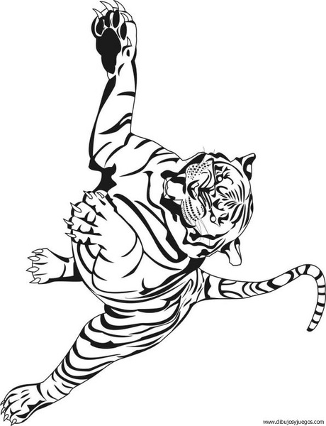 dibujo-de-tigre-034 | Dibujos y juegos, para pintar y colorear