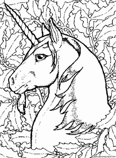 Dibujo De Unicornio 032 Dibujos Y Juegos Para Pintar Y Colorear