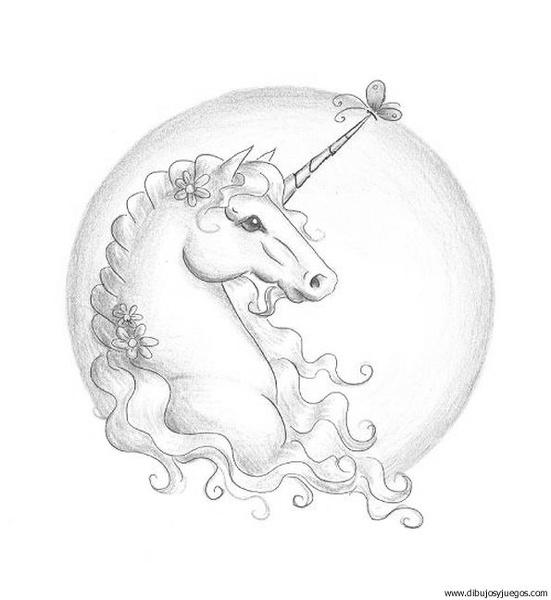 dibujo-de-unicornio-035 | Dibujos y juegos, para pintar y colorear