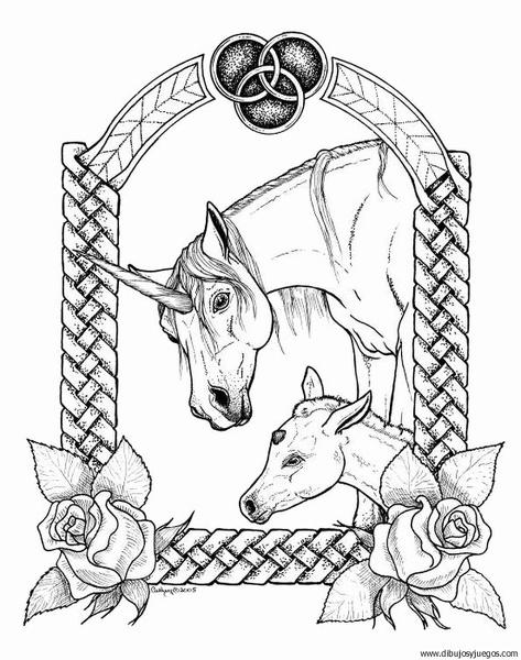 Dibujo De Unicornio 046 Dibujos Y Juegos Para Pintar Y Colorear