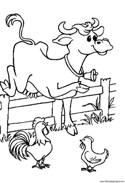 dibujo-de-vaca-010 | Dibujos y juegos, para pintar y colorear