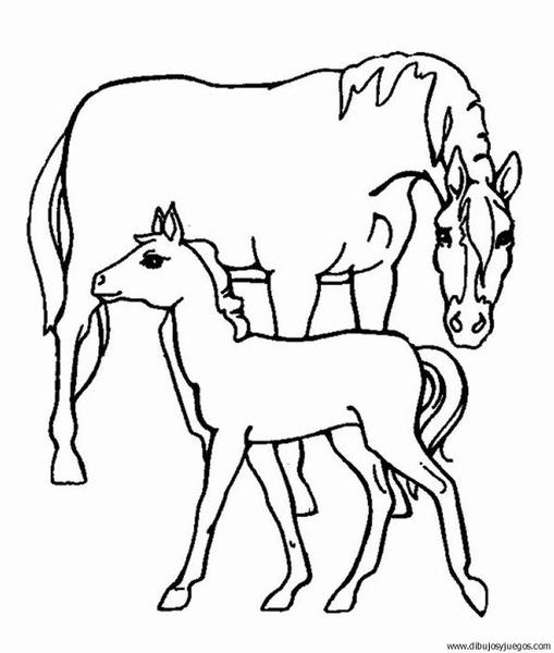 dibujo-de-caballo-003 | Dibujos y juegos, para pintar y colorear