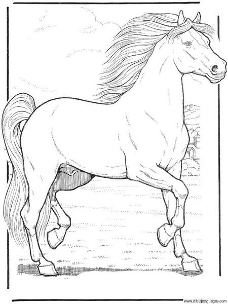 dibujo-de-caballo-043  Dibujos y juegos, para pintar y ...