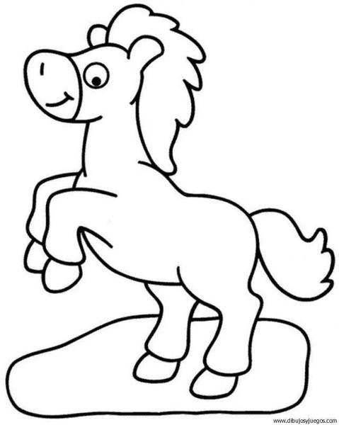 dibujo-de-caballo-125 | Dibujos y juegos, para pintar y colorear