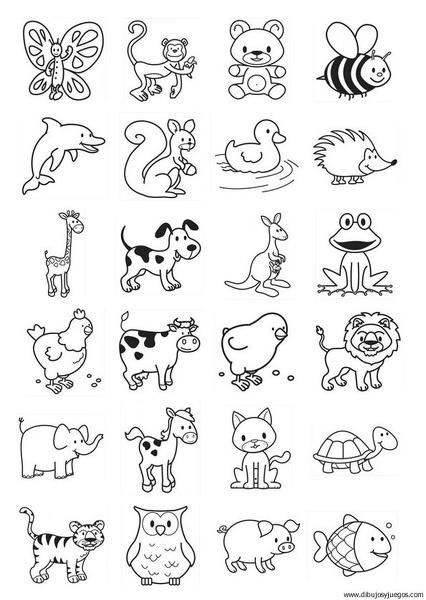 Animales 01 Dibujos Y Juegos Para Pintar Y Colorear